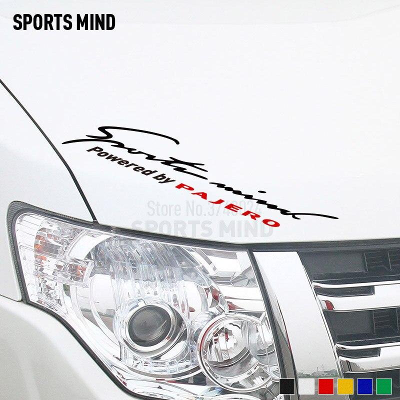 Customization Sports Mind Car Sticker Decal Car Styling For Mitsubishi Pajero JDM Stickers Car ralliart Accessories