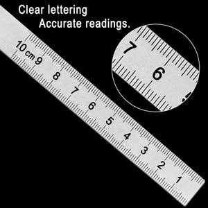 Image 3 - נירוסטה עגול ראש 180 תואר מד זוית זווית Finder רוטרי מדידת שליט מכונאי כלי 10cm אומן שליט
