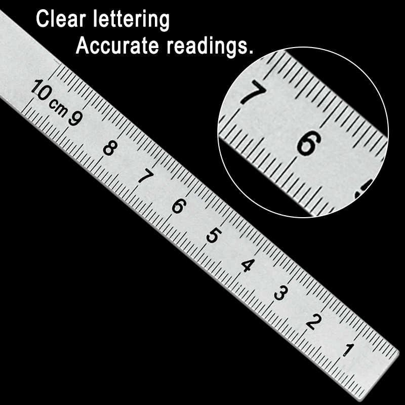Paslanmaz çelik yuvarlak kafa 180 derece İletki açı bulucu döner ölçüm cetveli makinist aracı 10cm usta cetvel