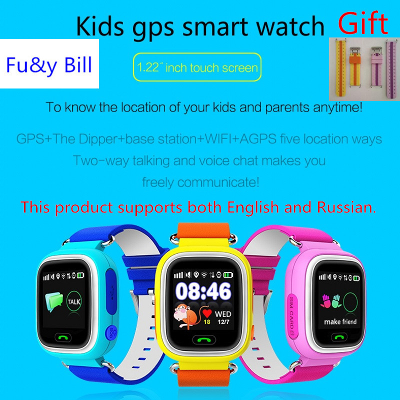 2017 New Q90 GPS Phone Positioning Fashion Children Watch 1 22 Inch Color Touch Screen SOS