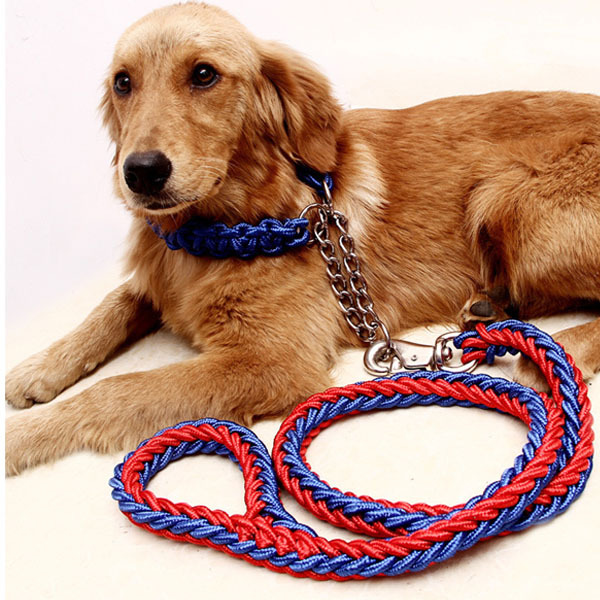Big Dogs Accessory Pet Products Nylon Hand Crochet Adjustable High