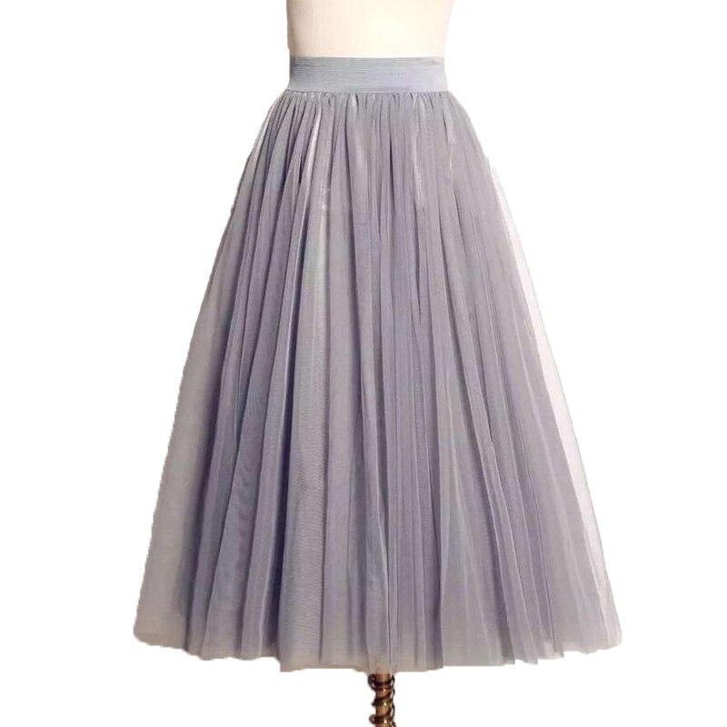 725c4f38cc Tulle Skirts Womens Three layer net yarn ball gown skirts big swing maxi  skirts tutu Elastic High Waist Pleated Midi Skirt-in Skirts from Women's  Clothing ...