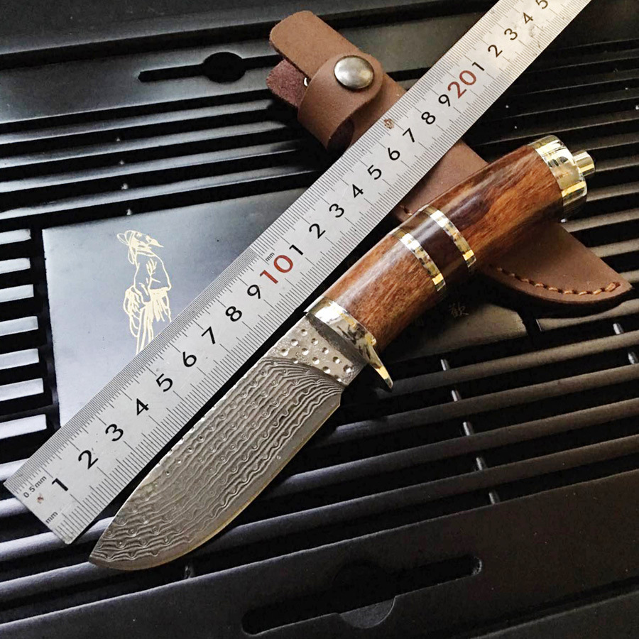 Damascus steel army Survival knife high hardness wilderness knive essential self-defense Camping Knife Hunting outdoor tools EDC hx outdoors army survival knife outdoor tools high hardness straight knives essential tool for self defense cold steel knife