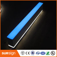 3D Lighting Acrylic Mini LED Channel Letters Sign Bending Machine Making Acrylic Face Lighting Letters