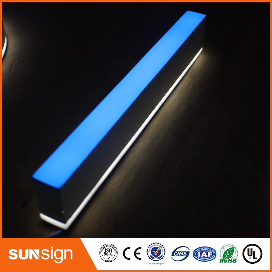 3D Lighting Acrylic Mini LED Channel Letters Sign / Bending Machine Making Acrylic Face Lighting Letters