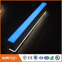 3D de Iluminación de Acrílico Mini LED Letras de Canal Signo/Máquina Dobladora de Acrílico Hacer cara Letras de Iluminación