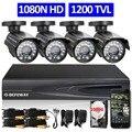 Defeway 1080n dvr 1200tvl 720 p hd sistema de cámaras de seguridad al aire libre 1 TB de Disco Duro de $ NUMBER CANALES DVR Kit de Vigilancia CCTV AHD Cámara conjunto