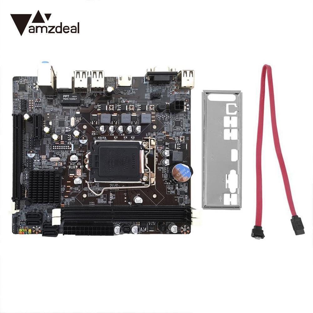 AMZDEAL H61 Motherboard Extender Riser Board Extensor Board Professional LGA1155 Double Channel Computer for Intel Core I7/I5/I3 ...