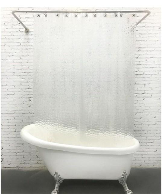 מדהים 3D PEVA עמיד למים שקוף פלסטיק מקלחת וילונות לאמבטיה מלון בית CZ-03