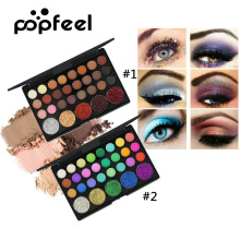 Popfeel 29 Color Eye Shadow Palette Nude Shimmer Eyeshadow Glitter Powder for Party Diamond Smoky Eyes Makeup Cosmetics