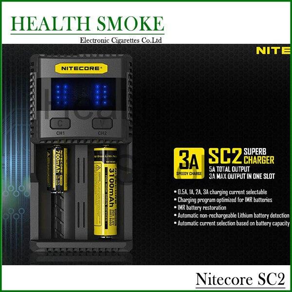 New 100% Original Nitecore SC2 Universal LCD Display 18650 usb travel charger Smart Charger Universal Battery 14500 18650 10440
