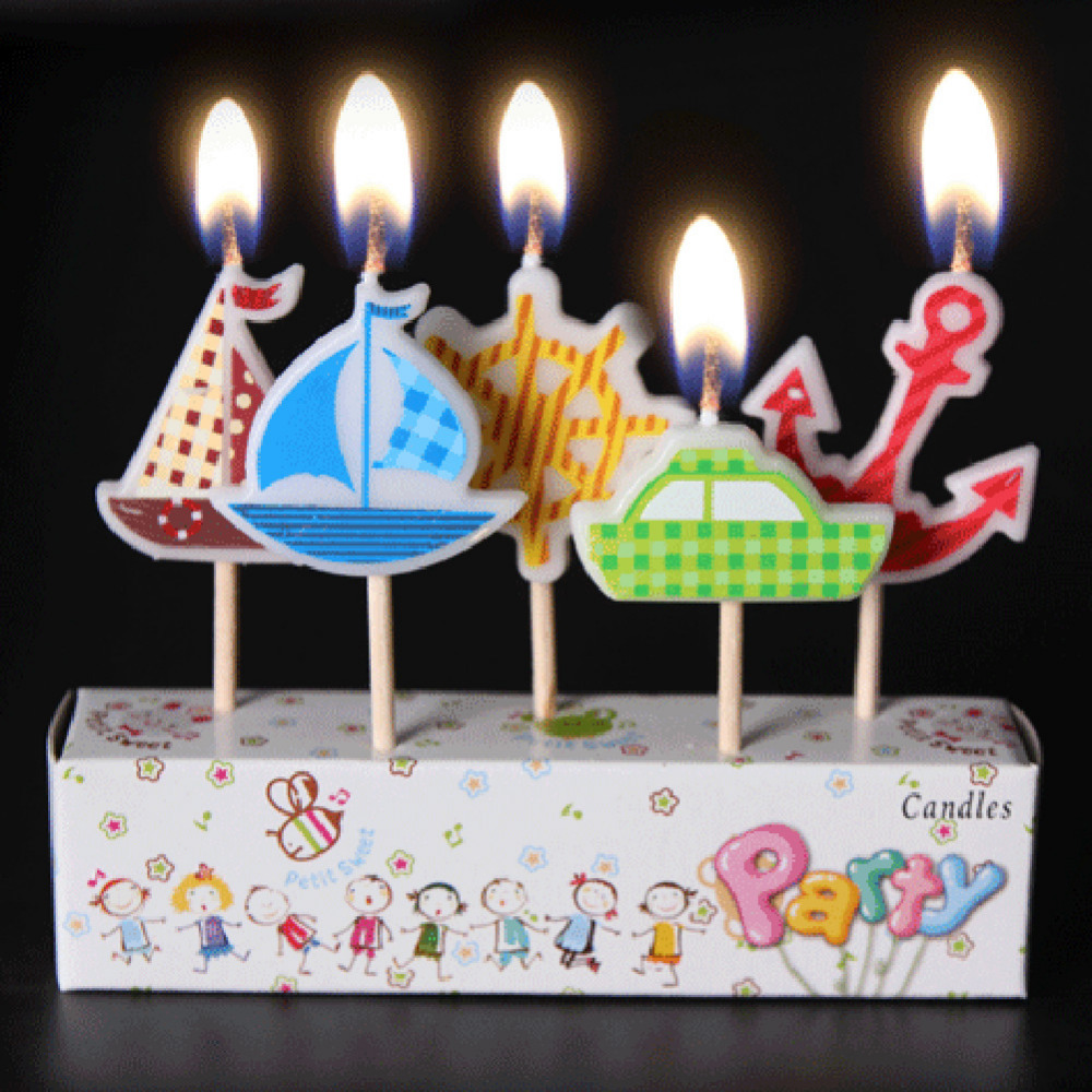 AIHOME 3Pcs/Lot Birthday Candles Cartoon Craft Kids Gifts