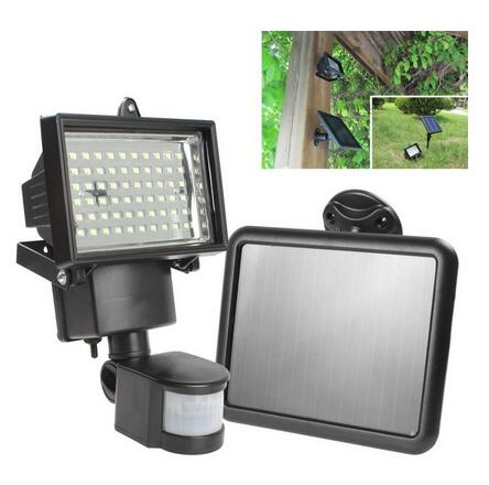 Colorpai hot Solar Panel LED Flood Security Solar Garden Light PIR - Udendørs belysning