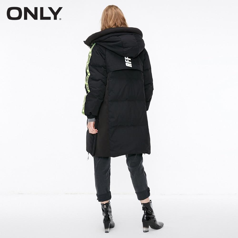 Only women's contrasting 롱 다운 재킷  118312600-에서다운 코트부터 여성 의류 의  그룹 3