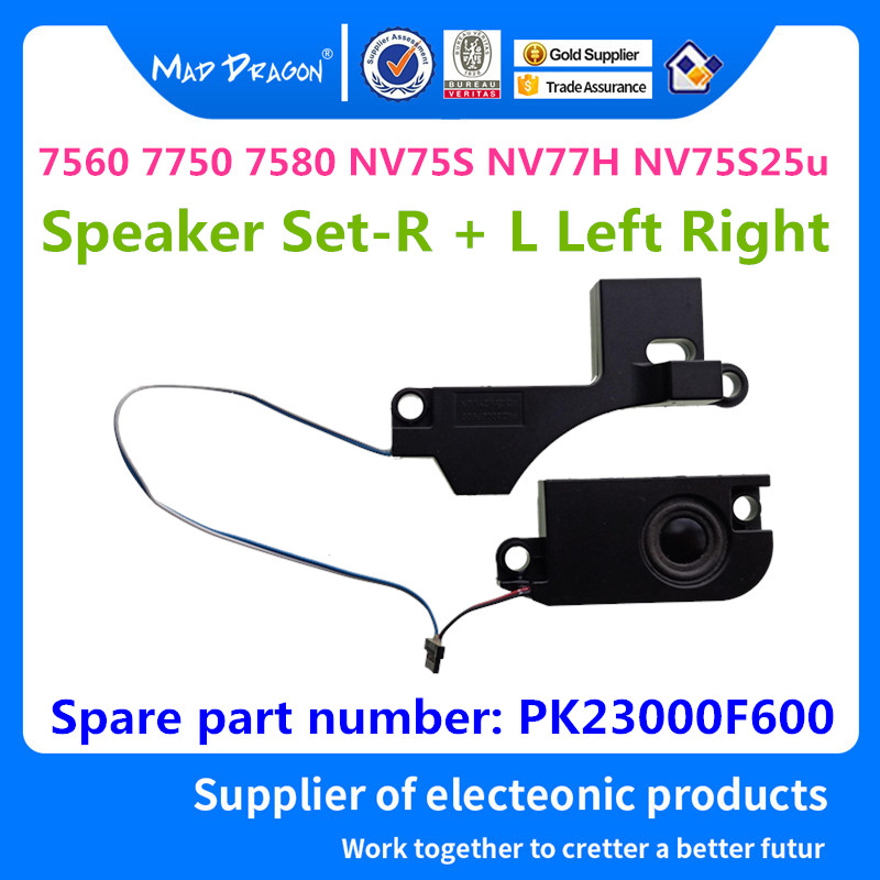 New Original Laptop Speaker Set-R + L Left Right For ACER 7560 7750 7580 NV75S NV77H NV75S25u Built-in Speaker L&R PK23000F600