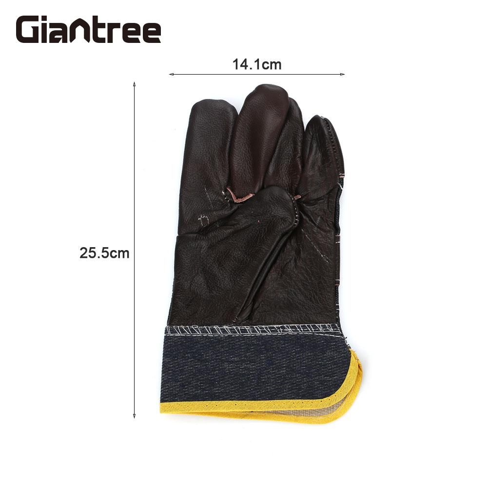 Welding Gloves 1 Pair Fabrication Universal Labor Gloves Work Place Safety Gloves Sheet Metal 1 pair lleather welding gloves work safety gloves anti cut gloves glass handling circuit boards