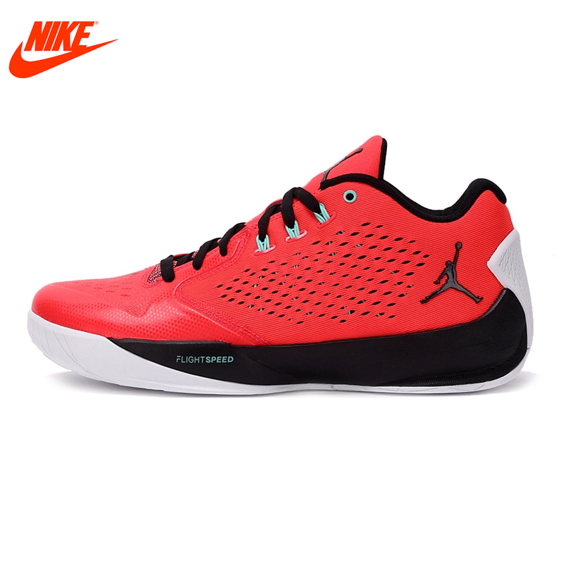 Original New Arrival Authentic NIKE Breathable Summer Men's Basketball Shoes Sneakers Red White shoes men jordan original new arrival nike men s high top lightest leather basketball shoes sneakers