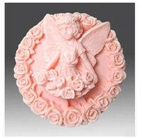 Jour de Valentine BRICOLAGE bébé ange/rose forme savon à la main moule bougie moules en silicone moule Bonbons Au Chocolat Moules Forme de Gâteau