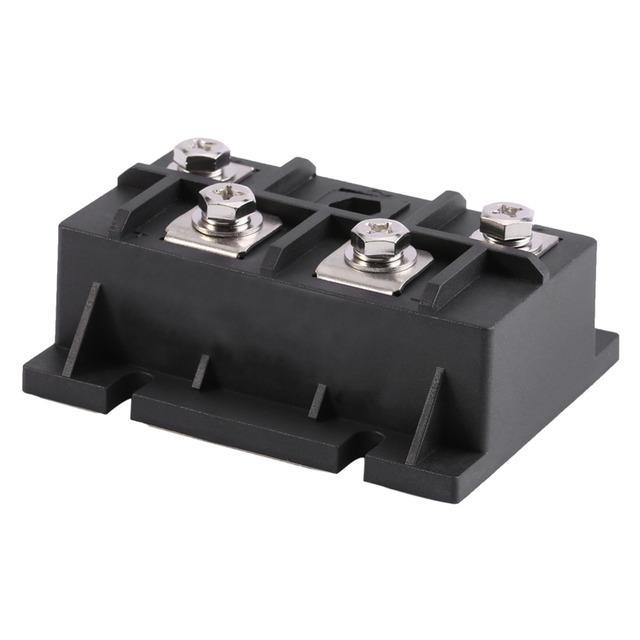 1Pcs 200A 1600V Rectifier High Power Single Phase Diode Rectifier Bridge Module 4 Terminals Black New Arrival