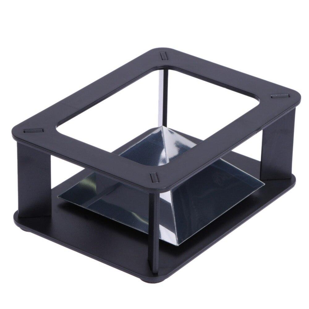 ALLOYSEED 3D Ologramma di Visualizzazione Del Basamento Proiettore Piramide Ologramma di Visualizzazione di Lusso Vetrina Per 3.5-6 pollici Del Telefono Mobile