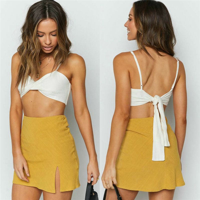 New Fashion <font><b>Sexy</b></font> Women Summer Split <font><b>Skirts</b></font> Solid Color Female <font><b>Bodycon</b></font> Short Mini <font><b>Skirt</b></font> Irregular <font><b>Pencil</b></font> <font><b>Bandage</b></font> Clubwear image