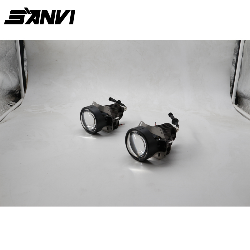 2017 new high qualitySANVI LED Projector Lens LED Headlight With Ballast Car-styling 35W 5500K 3 Inch Retrofit Kit Auto Lighting high quality new car led headlight with ballast mask angel eye 35w 6000k car led projector lens headlight