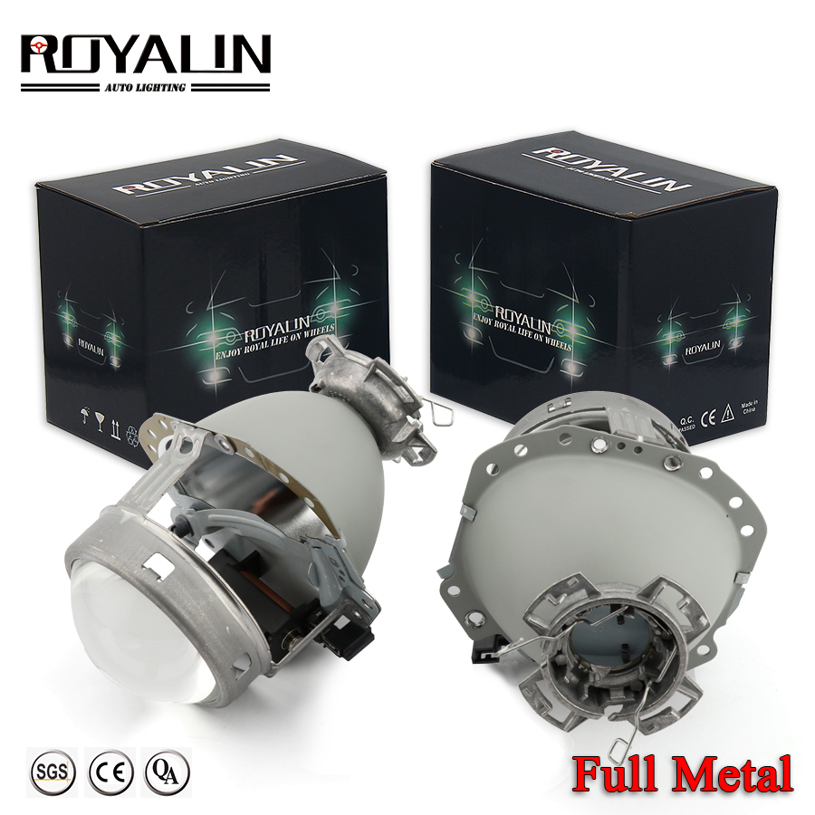 ROYALIN Full Metal E55 Projector Lens G2 3.0'' HID D2S Headlight Lens For BMW E65 Audi A6 C5 A6L S6 W209 219 251 212 R171 ML320