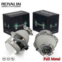 цена на ROYALIN Full Metal E55 Projector Lens G2 3.0'' HID D2S Headlight Lens For BMW E65 Audi A6 C5 A6L S6 W209 219 251 212 R171 ML320
