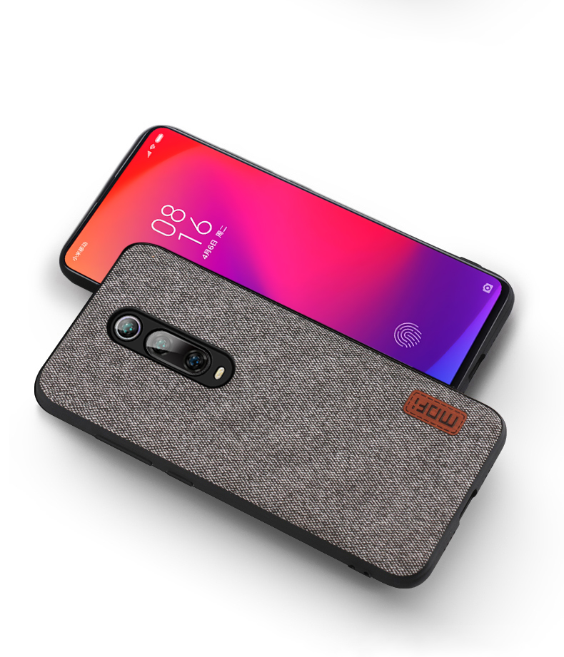 HTB1Y0ylaRCw3KVjSZFuq6AAOpXa7 for Xiaomi Mi 9T Pro case cover protective fabric cloth silicone back capas MOFi original global Mi9T business case