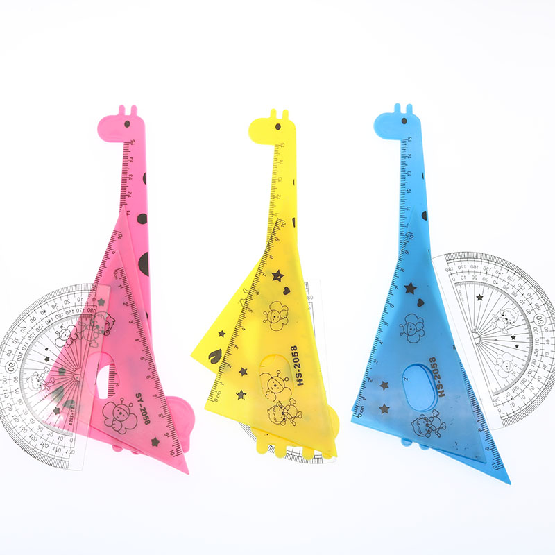 4pcs Lovely New Elegant Animal Giraffe Kawai Process Drawing Students Drawing School Supplies Random Color