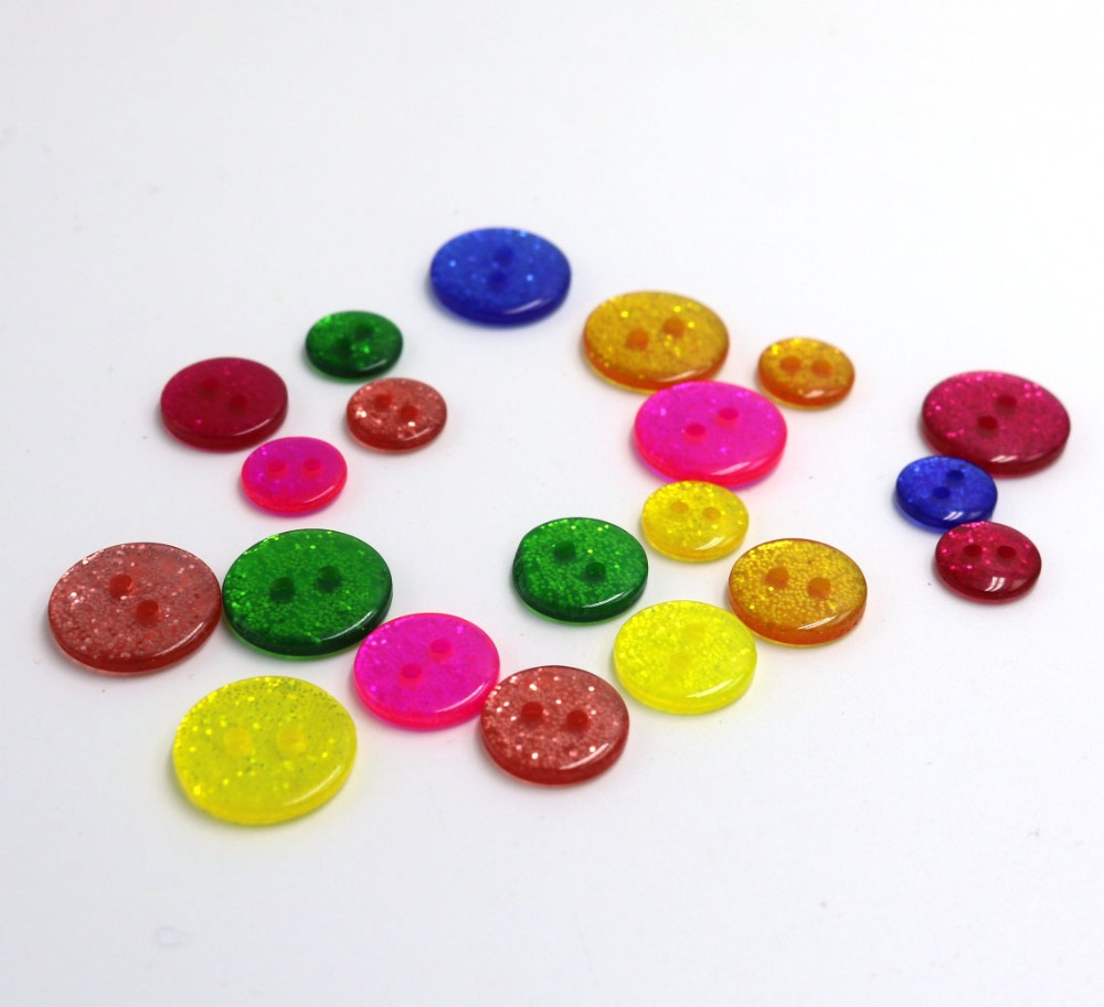 shank buttons 6 x 12mm sparkly round buttons