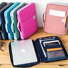 Bolsa organizadora para almacenamiento de documentos A4, portátil, multifuncional, a prueba de agua, carpeta de archivos, bolsas para cuadernos de viaje, bolígrafos, ordenador