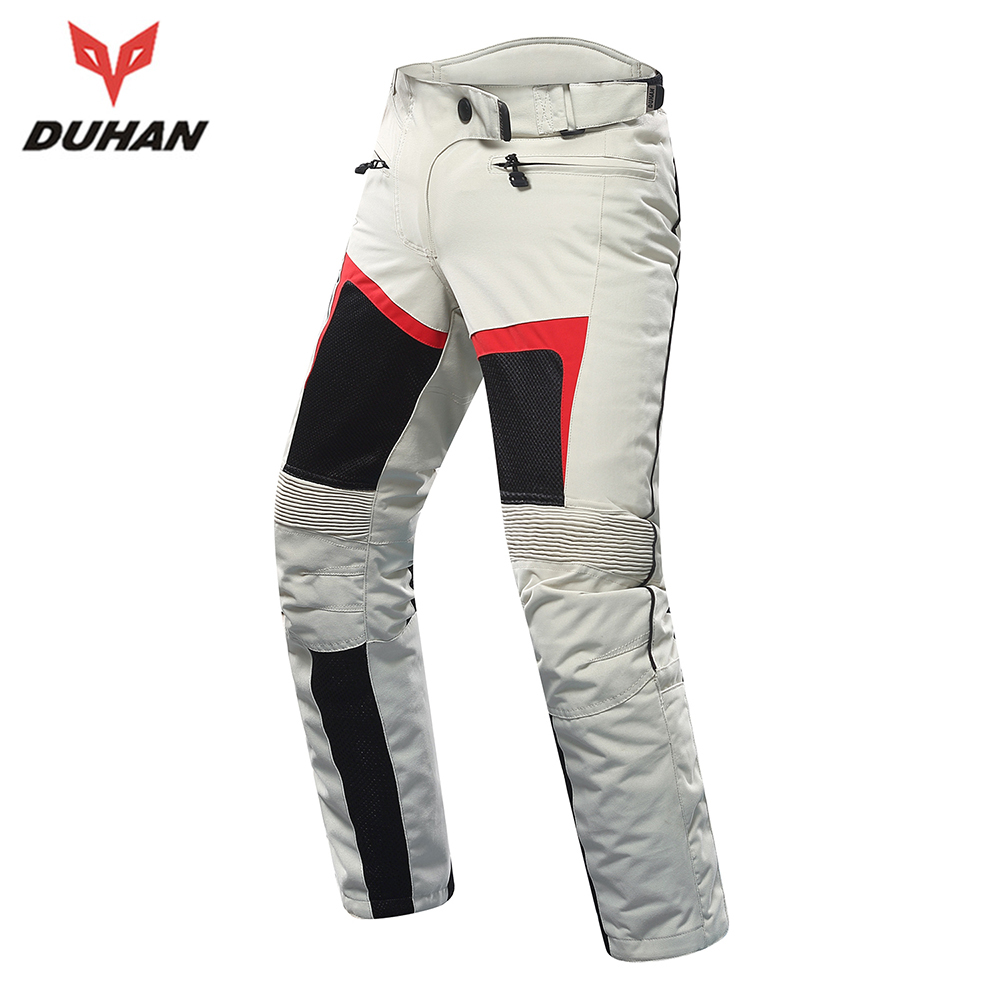 DUHAN Motorcycle Pants Women Breathable Mesh Moto Pants Pantalon Trousers Protective Gear Riding Touring Motorbike Pants Armor duhan men pantalon moto oxford cloth motorcycle enduro racing pantalon trousers motorcycle pants motorcycle trousers moto pants