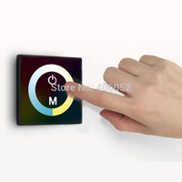 Color Touch Panel Controller Dimmer Wall Switch Ring 12V 24V 4A For LED Strip Plastic