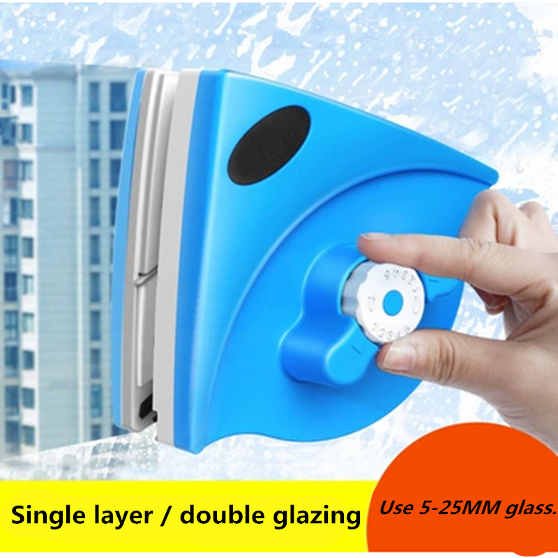 New Window Cleaning Brush Magnets Glass Wiper Adjustable Surface Brush Magnetic Window Cleaner Tools for Single/Double Glasses