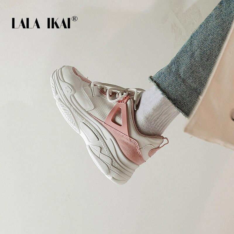 3f51dc3b LALA-IKAI-las-mujeres-c-modos-casuales-zapatos-de-plataforma-zapatos -de-encaje-Color-mezclado-zapatillas.jpg