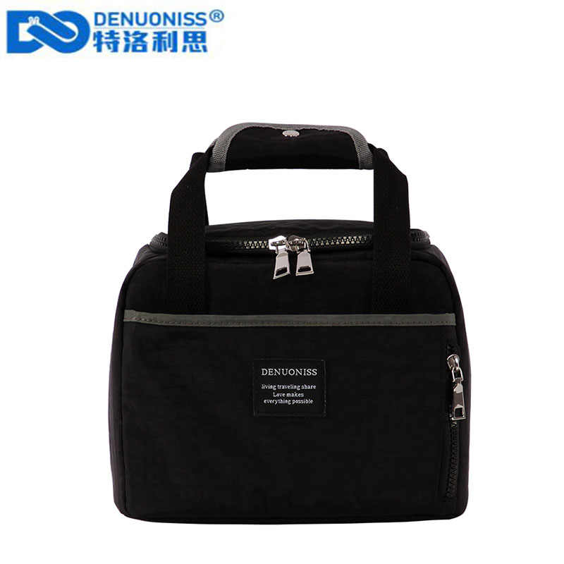 DENUONISS Waterproof Insulated Lunch Bags Oxford Travel Necessary Picnic Pouch Unisex Thermal Dinner Box Food Case
