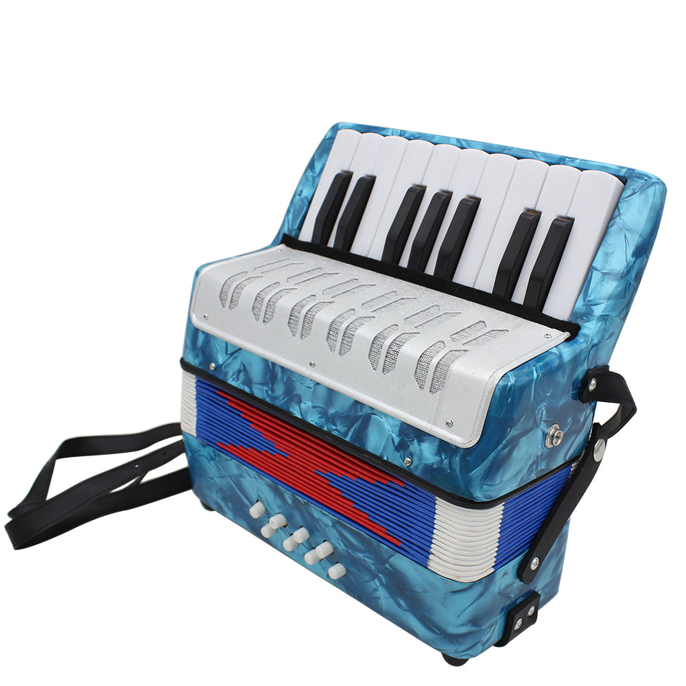 IRIN17 Key Professional Mini Accordion Educational Musical Instrument for Both Kids & Adult 2 Colors Optional