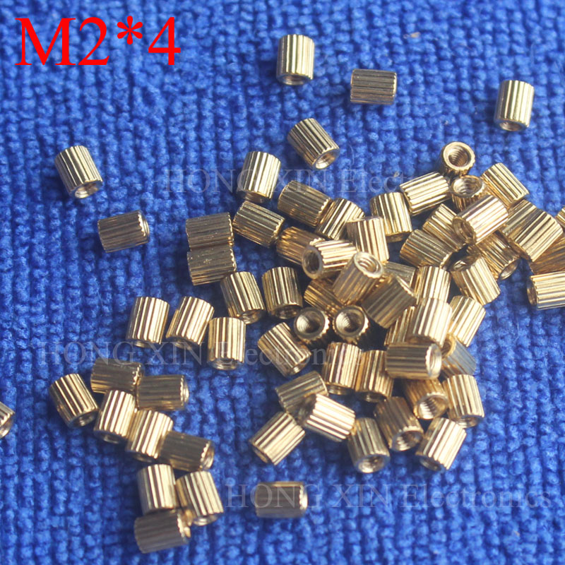 M2*4 1Pcs Brass Spacer Standoff 4mm Female To Female Standoffs column cylindrical High Quality 1 piece sale m2 4 3 1pcs brass standoff 4mm spacer standard male female brass standoffs metric thread column high quality 1 piece sale