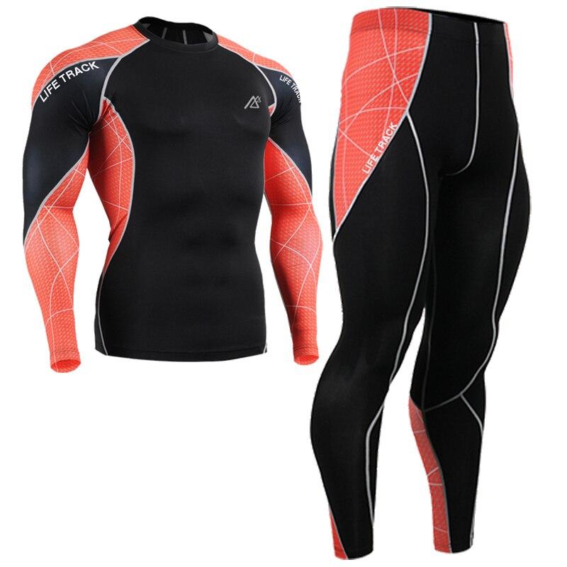 2018 bike mens orange print shirt men pants Autumn Spring sport suit legging gemotric ropa recien nacido online