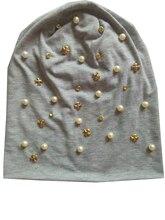 B-17908 Мода 100% хлопок хорошие эластичные цвета жемчуга и кристаллов шапочки панк золото металлический крест дизайн шляпу пользовательских