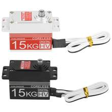 15 kg/20 kg/50 kg 4,8-7,4 V/6-12 V Digital sin núcleo Motor metal Gear Steering Servo para 1/8 de 1/10 RC Coche(China)