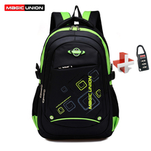 MAGIC UNION Children School Bags Waterproof Children Backpack In Primary School Backpacks Mochila Infantil Zip With