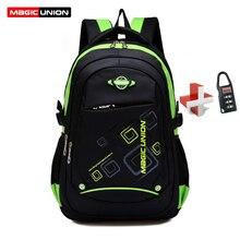 MAGIC UNION Children School Bags  Waterproof Children Backpack In Primary School Backpacks Mochila Infantil Zip With Lock