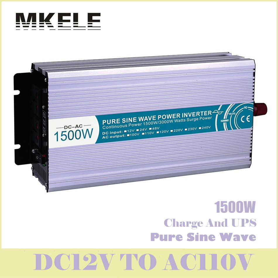 High Quality MKP1500-121-C 1500w 12v To 110v Pure Sine Wave Solar Inverter Voltage Converter With Charger And UPS China mkp4000 241b c high quality 24volt 120vac 4kw inverter china voltronic inverter solar pure sine wave inverter charger