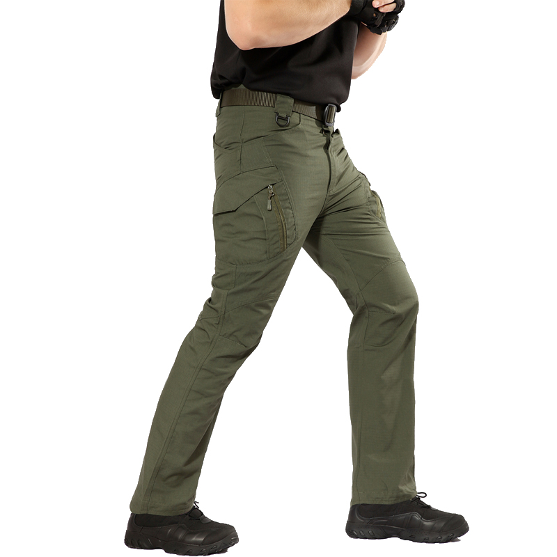 Trousers Military-Pants Multi-Pockets Combat Tactical Fishing Waterproof Men Cotton IX9
