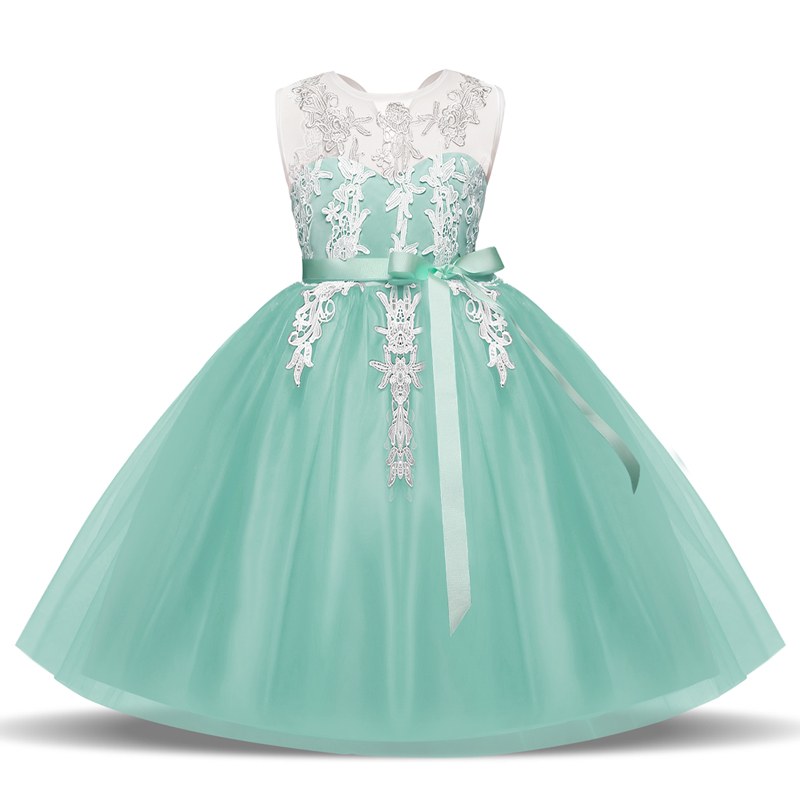 Baby Girl Clothes Flower Wedding Lace Prom Gown Tutu Party Dress For Girl Kids Fancy Ball Dress Children Clothing Girl 8 Years children girl clothes 2018 princess dress clothes bow ball gown tutu party dress 4 6 8 10 12 14 years teenage kids fancy dress