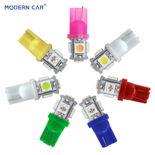 MODERN CAR Reading Lights T10 W5W 5050 5SMD 192 168 194 LED Car Light Wedge Lamp Bulbs Super Bright DC 12V License Plate Light 100pcs univeral t10 wedge 5 smd 5050 xenon led light bulbs 192 168 194 w5w 2825 158 cool white license plate lights freeshipping