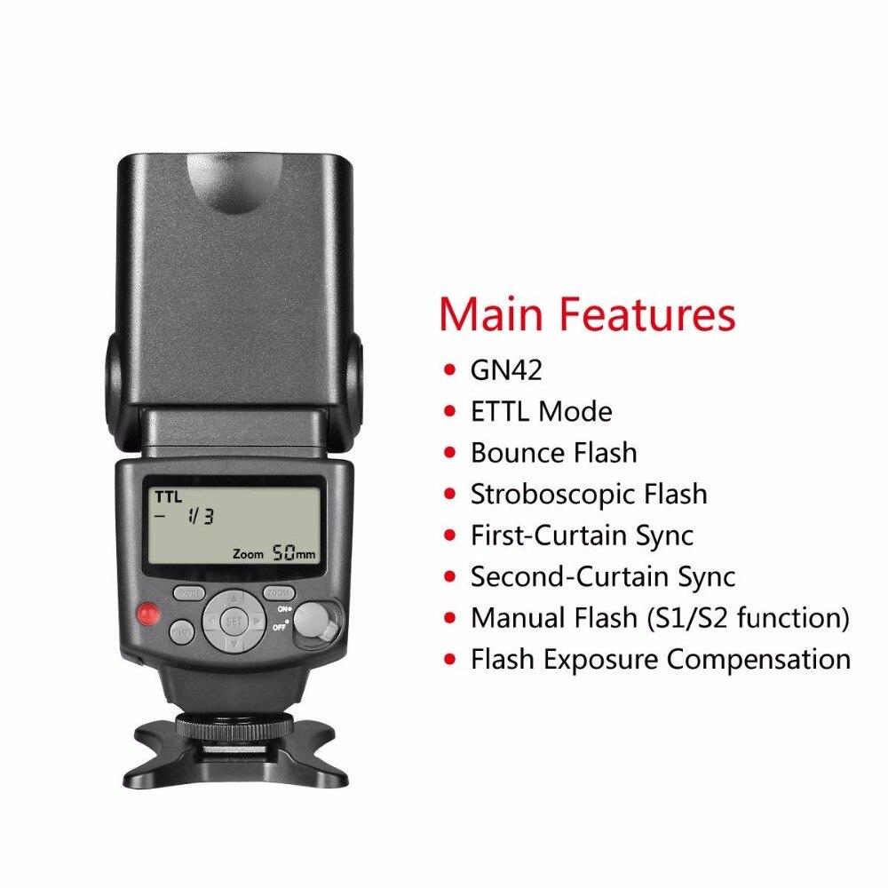 Voking VK430 E-TTL ÉCRAN LCD Speedlite Chaussure Flash intégré pour Canon EOS 70D 77D 80D Rebelles T7i T6i T6s T6 T5i T5 T4i T3i SL2 - 3