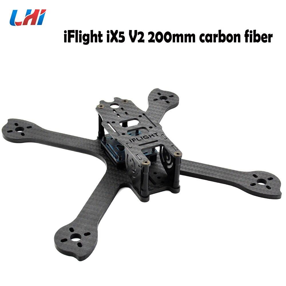 Kit original de cadre de course FPV en fibre de carbone iFlight iX5 V2 200mm avec plaque latérale de 28mm M3/caméra pour kit de Drone de course FPV